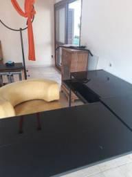 Mesa  escritorio  ou para recepção vidro temperado preto
