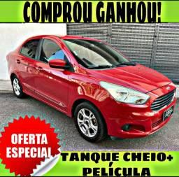 TANQUE CHEIO SO NA EMPORIUM CAR!!! FORD KA 1.5 SEDAN SEL ANO 2015 COM MIL DE ENTRADA