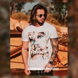 Camiseta masculina estampada NOVO