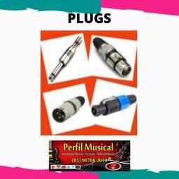 Título do anúncio: Plug p10 canon speakon e adaptadores fazemos entregas