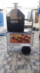 Título do anúncio: Carrinho de churrasco troco né uma geladeira