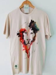 Camiseta Amazônia Leão Aquarela