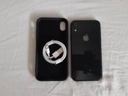 Título do anúncio: Iphone XR black 128gb 90% de bateria