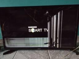 Smartv Samsung 34 polegadas tela danificada
