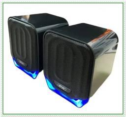 Título do anúncio: Caixa de Som Usb Com Fio Para Pc, Notebook, Tablet, Celular Dim: 10x8x8cm.