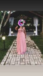 Título do anúncio: Vestido rosa chá - usado uma única vez