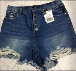 Short novo Jeans tamanho 42
