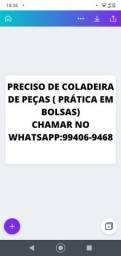 Título do anúncio: PRECISO DE COLADEIRA