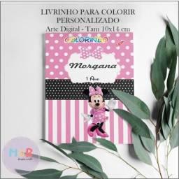 Título do anúncio: Arte Digital Livrinhos Personalizados Para Colorir