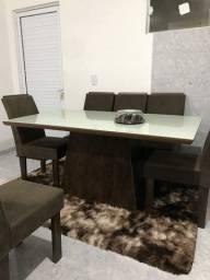 Título do anúncio: Mesa 6 cadeiras tampo de vidro