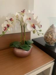 Título do anúncio: Vaso com orquídea branca