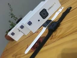 Relógio Smartwatch T500 + Branco/Preto