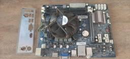 Título do anúncio: Kit Placa mãe LGA1155, processador I3-2100 3.10GHZ e 4gb de ram ddr3