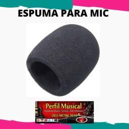 Título do anúncio: Espuma protetora para microfone fazemos entregas