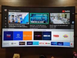Smart TV 4K HDR 49' Tela curva Samsung