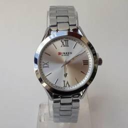 Curren Relógio Das Mulheres 9007 De Aço Pulseira