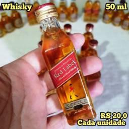 Título do anúncio: Miniatura Whisky Red Label - 50ml - Original, Lacrada e Licenciada