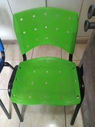 Cadeiras de escritório de plástico empilháveis (3 unidades)