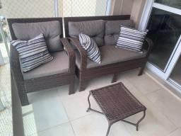 Título do anúncio: Jogo de sofá para área externa.