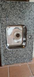 Pia granito com Cuba Nova 55x95cm