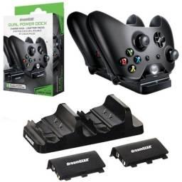 Carregador Xbox One Dual Power Dock + 2 Baterias Dreamgear