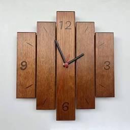 Relógio de Parede de Pallet