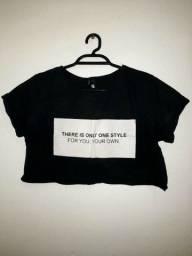 Título do anúncio: Cropped estiloso preto