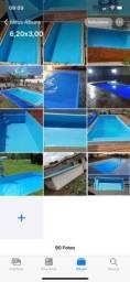 *piscina de fibra 6,20x3,00 na promoção