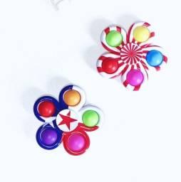Título do anúncio: Spinner pop it 5 bolhas, anti estresse giratório fidget toy