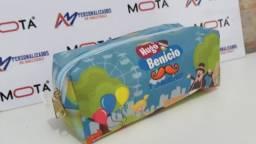 Necessaire box produzido em material acetinado sublimado. Necessaire