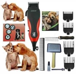Título do anúncio: Maquina Tosar Cães Gatos Cachorros Alavanca 5 Pentes e Acessórios Profissional 110v Sonar