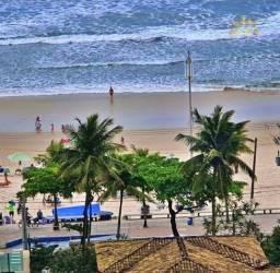 Título do anúncio: Apartamento na praia vista para o mar 2 dormitório 1 suíte 1 vaga Pitangueiras Guarujá.