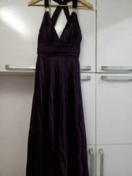 Título do anúncio: Vestido roxo escuro, longo tamanho P