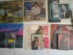 Lp, K7, VHS, CD compacto tudo junto
