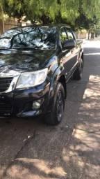Toyota Hilux CD SR 2.7 Flex 2013 Preto automatica - 2013