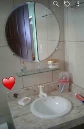 Kit espelho + pratileira