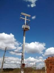 Subestação de energia 150KVA (transformador, postes, caixa.) Leia