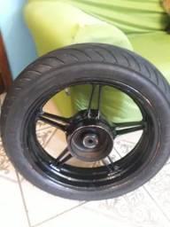 Roda liga traseira Cb300 com pneu e rolamento