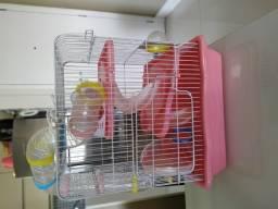 Gaiola de Hamster média com Tubos