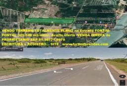 Terreno 325.000 m2.Fortim Estrada para Pontal- Totalmente Plano - 9,9 R$/m2