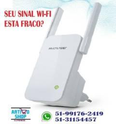 Repetidor Multilaser Wi-fi 300 Mbps 2 Antenas Externas
