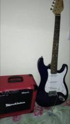 Guitarra e caixa de som