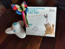 Brinquedos para Gato: Borboleta Giratória + Coçador (brinde)