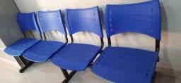 Cadeira Longarina de 4 lugares mais 2 individuais