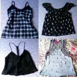 Sacola de roupas femininas+2 sapatos Arezzo