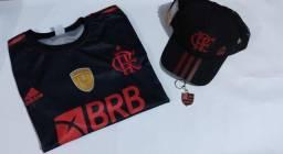 Kit Flamengo Camisa+Chaveiro+Boné