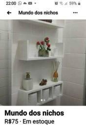 Kit para banheiro em mdf por apenas 75.00 branco