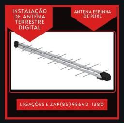 Título do anúncio: Antena digital-Antena espinha de peixe- Antena terrestre