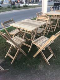 Título do anúncio: Mesa e cadeira de madeira