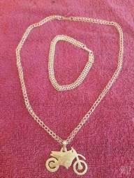 Título do anúncio: Joias de prata banhada a ouro